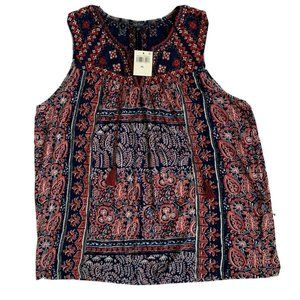 Lucky Brand Tops - Lucky Brand embroidered sleeveless blouse size XL
